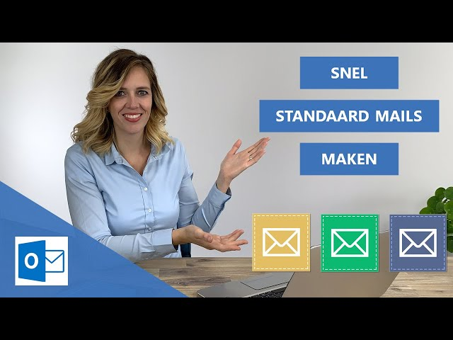 Snel standaard e-mails maken | met 3 handige Outlook functies 📧👍