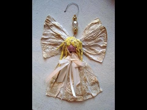 PAPIER MACHE  ANGEL ORNAMENT, For The Christmas Tree, How To