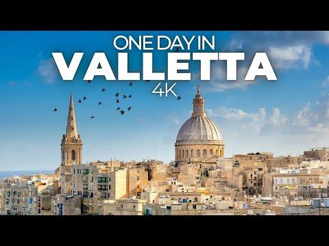 ONE DAY IN VALLETTA (MALTA) | 4K UHD | The beautiful capital of Malta