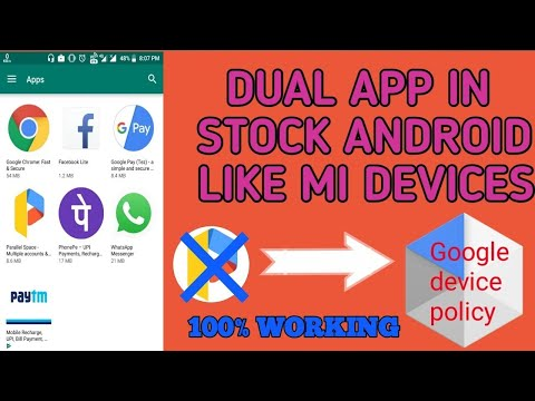 Dual App In Asus Zenfone Max Pro M1 Stock Andriod phones | TRICKS WORLD |