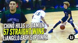 LiAngelo Ball 52 POINTS & LaMelo Ball Gets SHIFTY!! Chino Hills vs Damien Pt 2 FULL Highlights!!