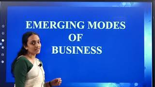 I PUC | BUSINESS STUDIES  | Emerging Modes of Business  - 06