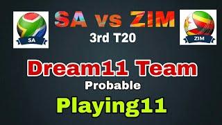 SA vs ZIM 3rd T20 Dream11 Team Prediction | Sa vs zim dream11 team and Playing11 of today match |