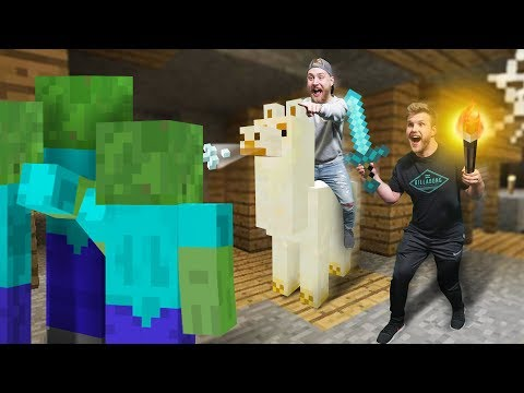 Llama Raiding a Dungeon?!   Minecraft [Ep 19]