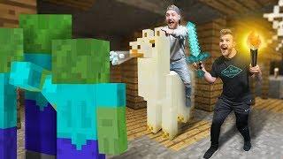 Llama Raiding a Dungeon?! | Minecraft [Ep 19]