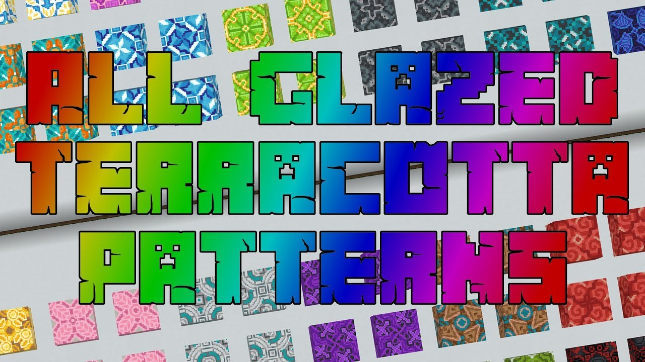How To Place Glazed Terracotta In Minecraft 1 12 1 16 All 2x2 Glazed Terracotta Patterns Youtube