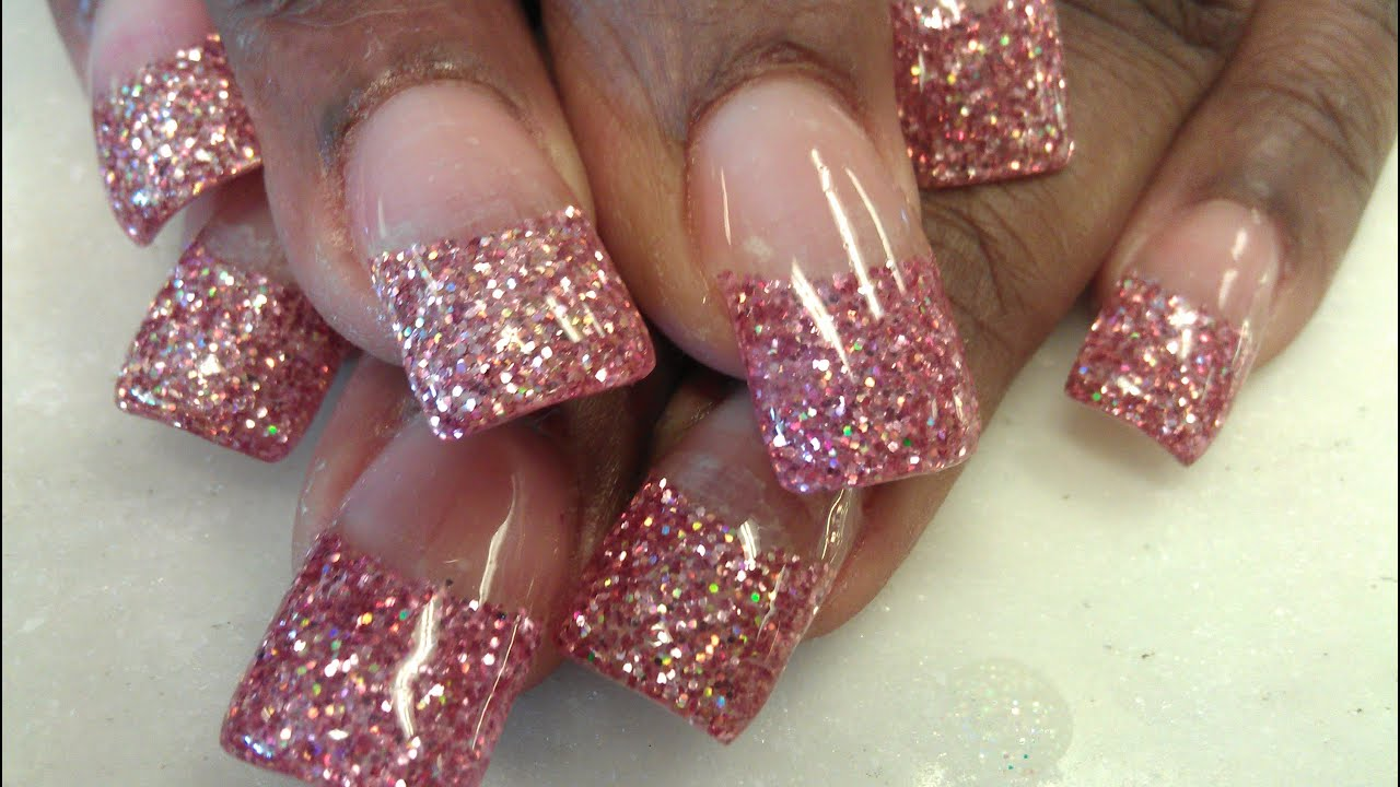 How to do pre design glitter tips part 2 youtube prinsesfo Image collections