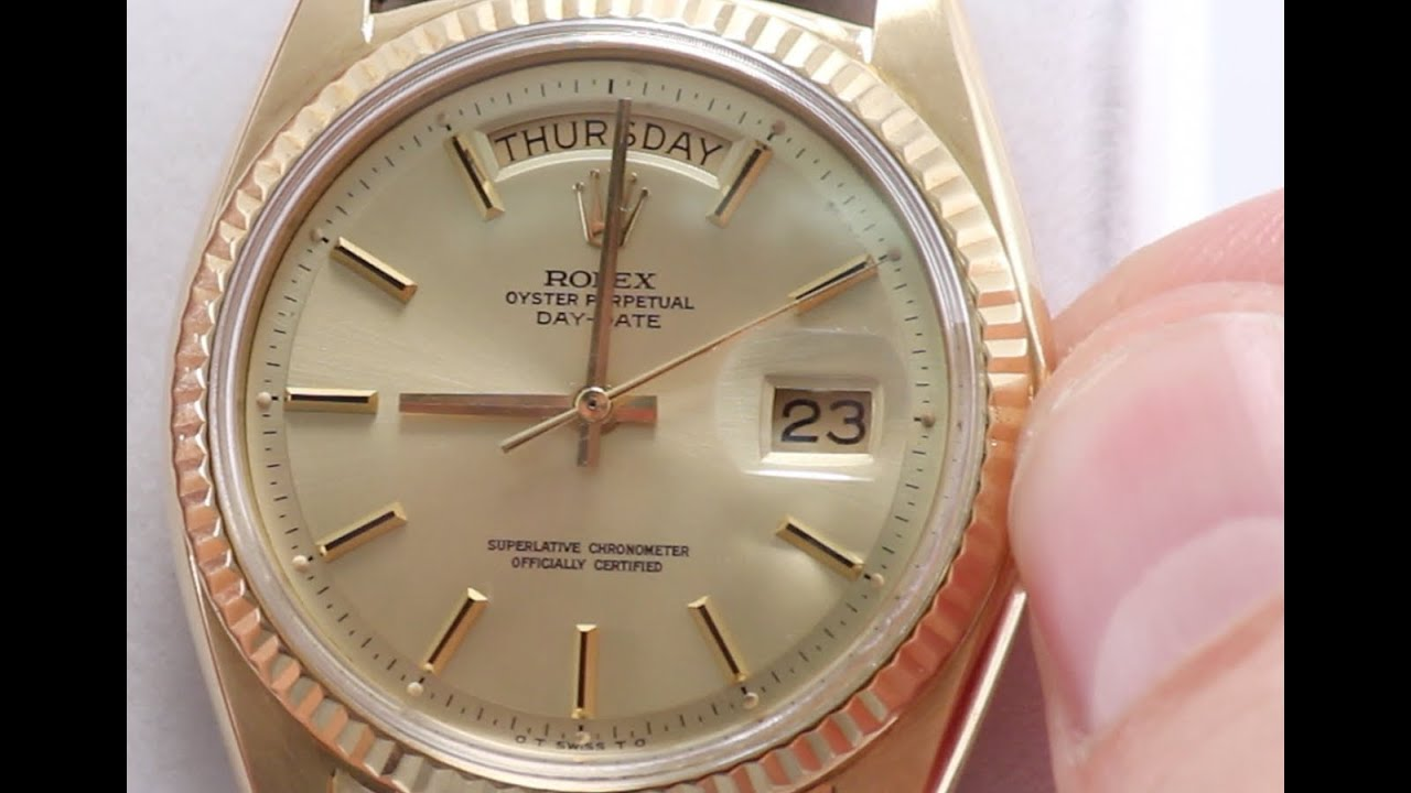 d0e761b4cee How to Set Day   Date on Your Rolex Watch - YouTube