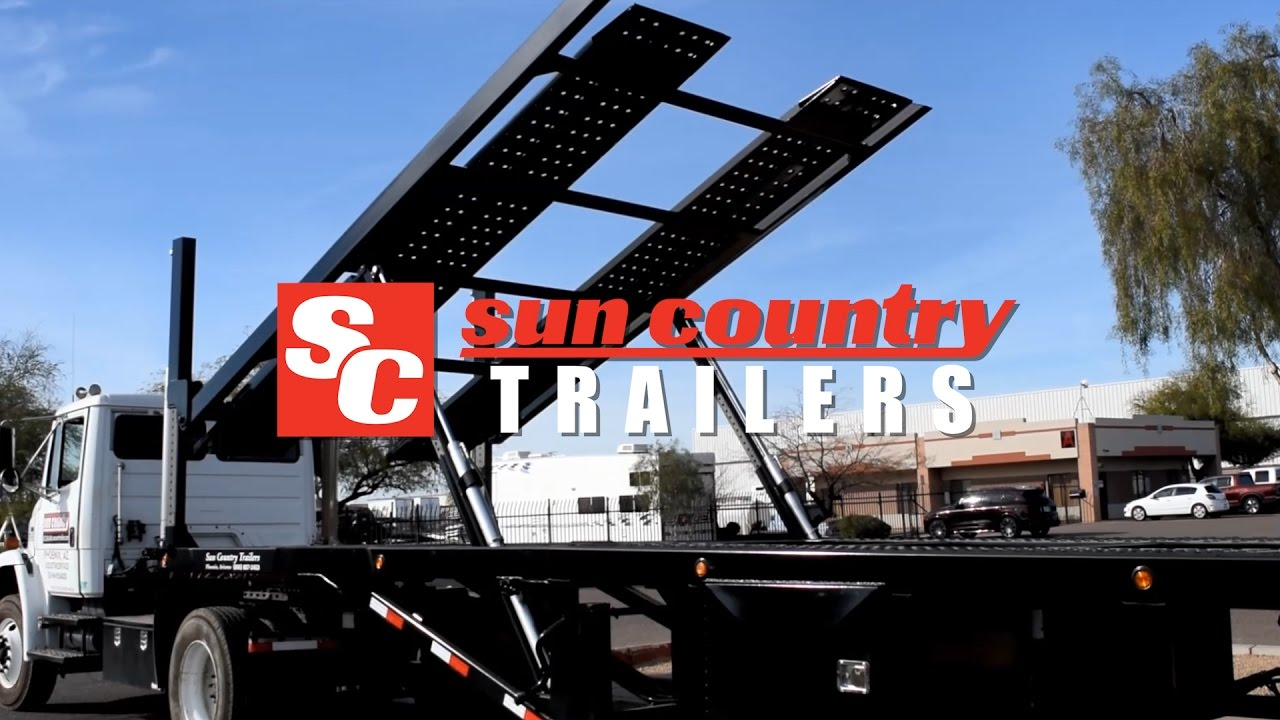 Commercial 5 Car Haulers Built By Sun Country Trailers Youtube