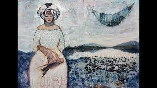 Flip Through  Mixed Media Art Journal Selfbound Kunsttagebuch Piarom