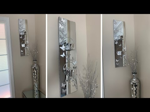 Dollar Tree DIY || 🦋 Mirrored Butterfly Wall Sconce 🦋 || Glam Edition