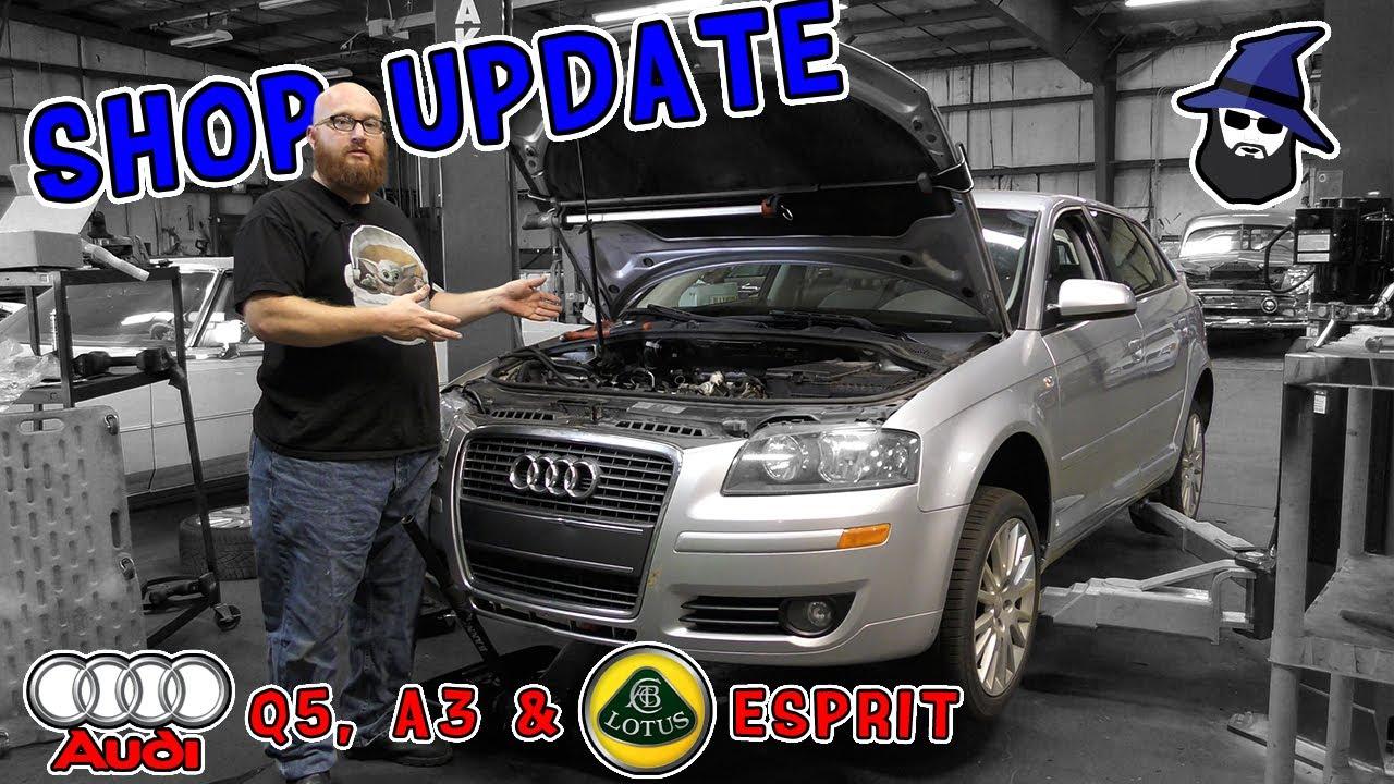 Shop Update: CAR WIZARD show status on Audi Q5, A3 & Lotus Esprit Turbo S4S