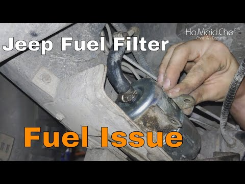 How To Replace Fuel Filter || Jeep Sputtering E08