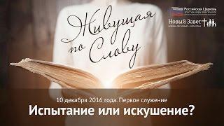 Конференция «Живущая по Слову». Анастасия Зайцева «Испытание или искушение?»  10 декабря 2016 г.