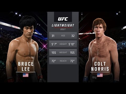 Bruce Lee Vs Chuck Norris The Way Of The Dragon 1 EA Sports UFC 2 thumbnail