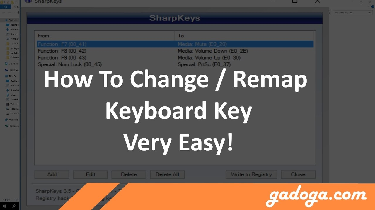 How To Change (Remap) Keyboard Key Functions