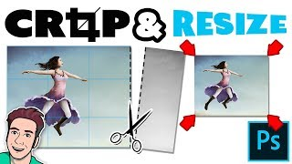 How to RESIZE & CROP Images in Photoshop CC(Learn how to crop and resize your artwork and images in Photoshop CC. ▻ Adobe Photoshop Training Course For Artists: ..., 2015-01-01T19:39:22.000Z)