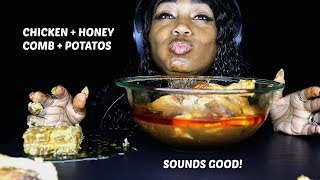 ASMR Honeycomb with Chicken & Potatoes (No Talking)