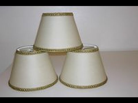 Cappellini (imperini) per lampadari - Paralumi e Lumi - YouTube