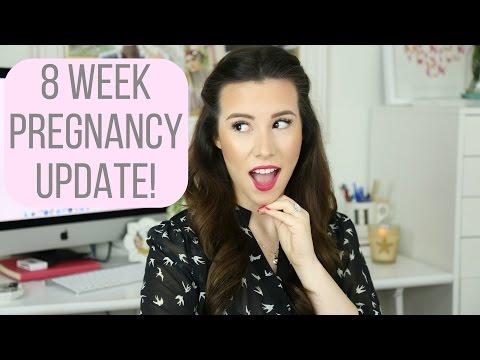 8 Week Pregnancy Vlog: Morning Sickness & Bump Shot! | hayleypaige