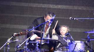 Huey Morgan Son Plays Drums After FLC Gig 2014