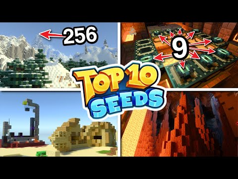TOP 10 BEST NEW SEEDS For Minecraft 1.17 Bedrock Edition! (PE, Xbox, Playstation, Switch & W10)