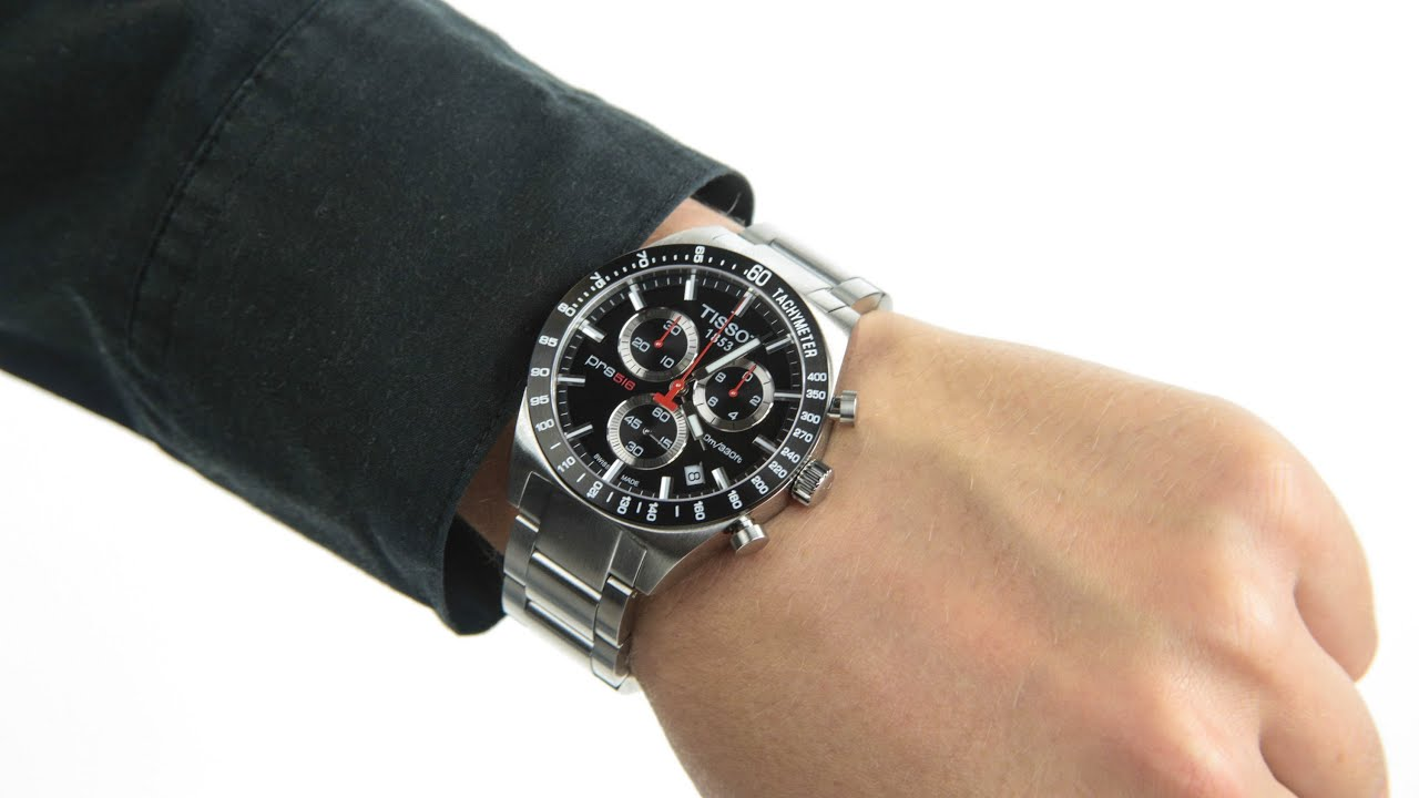 Tissot Gents Prs516 Chronograph T044 417 21 051 00 Youtube