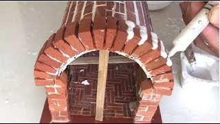 How To Build A Miniature Pizza Oven From Mini Bricks - BRICKLAYING - Mini Pizza In The House !