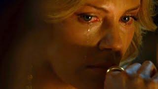 """Трогательная сцена, где Шарлиз Терон плачет от рассказа Хэнкока. Фильм """"Хэнкок"""". 2008 год"""