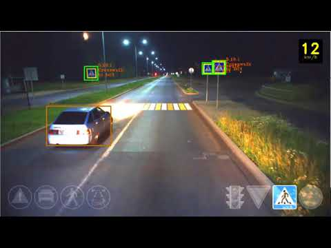 Self-driving car at night - autonomous vehicle testing