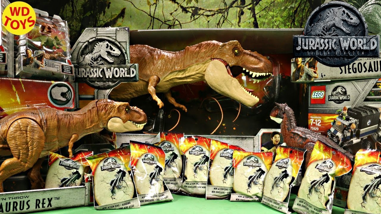 New Jurassic World 16 Blind Bags Fallen Kingdom Mattel Dinosaur Toys Unboxing Mattel  Vs Hasbro