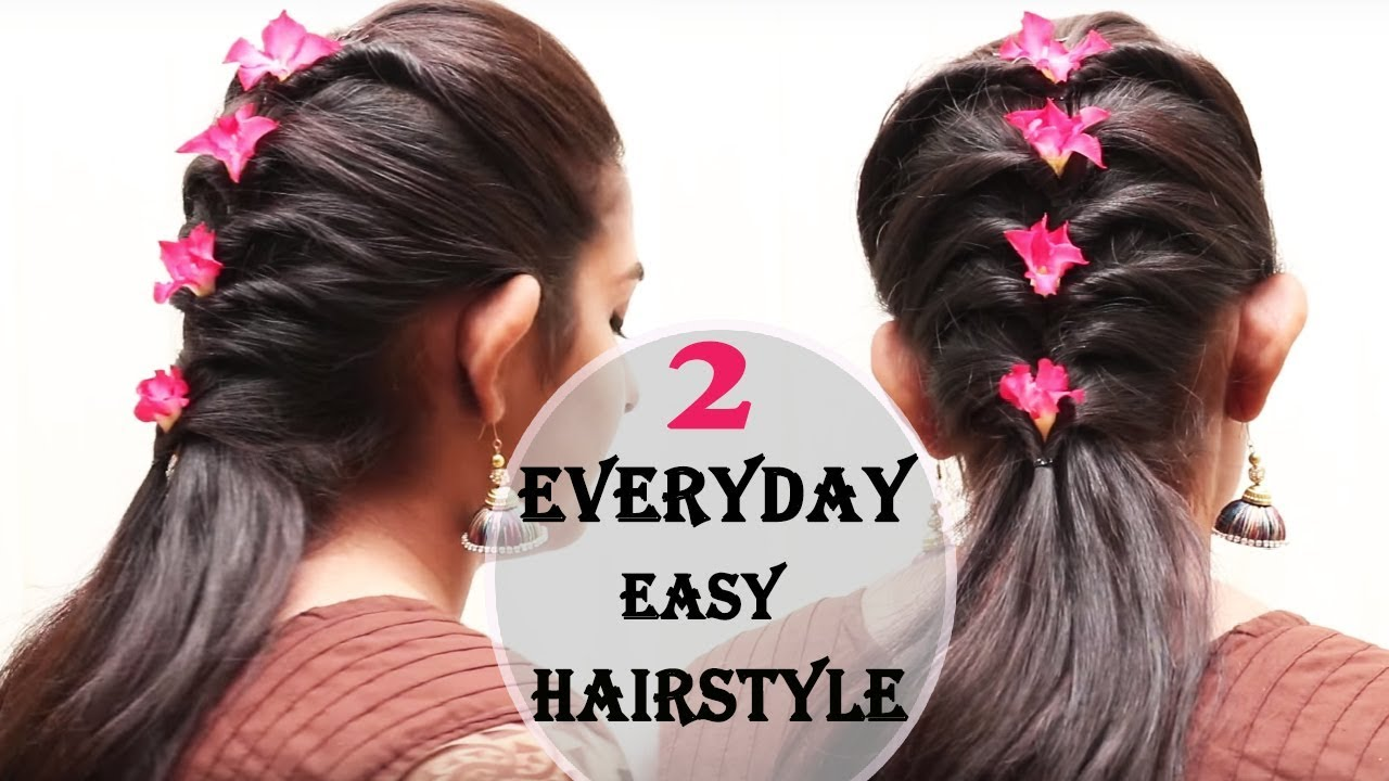 easy hair style design 2017 | everyday hair style | ladies hair
