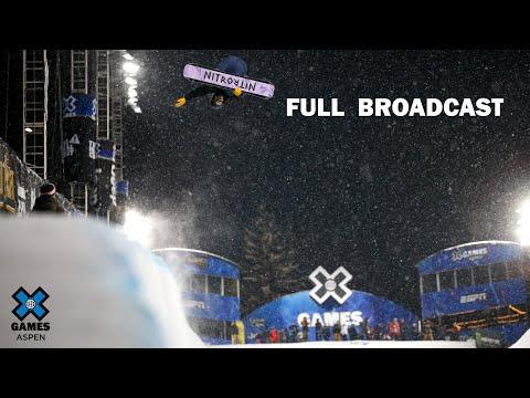 Monster Energy Men's Snowboard SuperPipe Elimination: FULL BROADCAST | X Games Aspen 2020