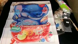 Diamond Painting Unboxing - Le xin Store AliExpress #1