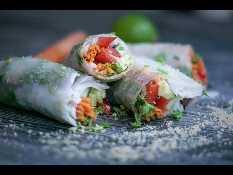 Vegan Tofu Summer Rolls with delicious Lime Ginger Sauce