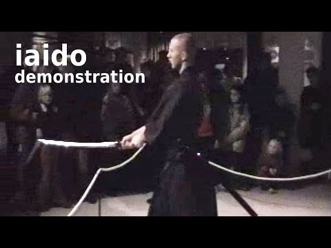 IAIDO, Japanese sword art demonstration in Malmö, Sweden