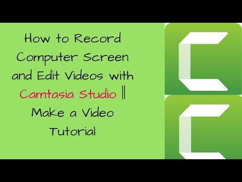Screen Record Video Edit || How to Record Computer Screen and Edit Videos with Camtasia Studio ✅🔴✅
