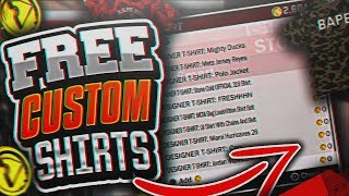 NBA2K18 FREE CUSTOM SHIRTS GLITCH! BUY ALL OF THEM NOW BEFORE PATCH 6!