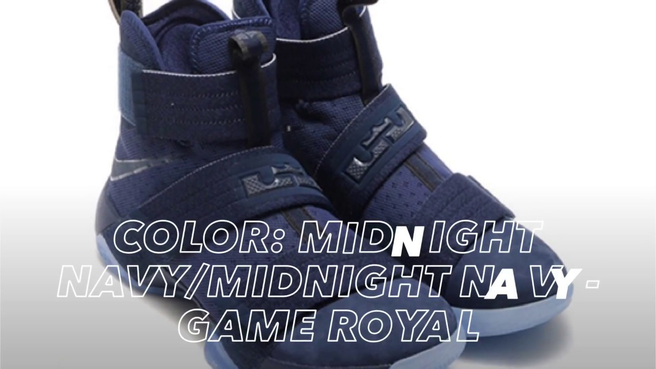 "5f796645eac8c NIKE LEBRON SOLDIER 10 ""SUEDE TOE"" ARRIVING IN NAVY   PEACE X9 - YouTube"