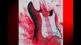 Splash Canvas of a Fender (Brandt Woods Studios)
