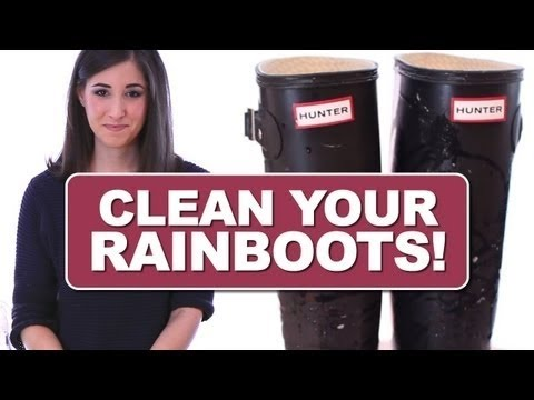 How to Clean Your Rain Boots! Hunter, Tretorn, Wellies etc. Shoe Cleaning Ideas (Clean My Space)