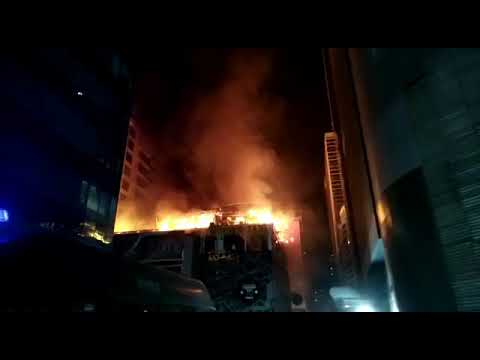 Fire at Kamala mill compound | London taxi on fire