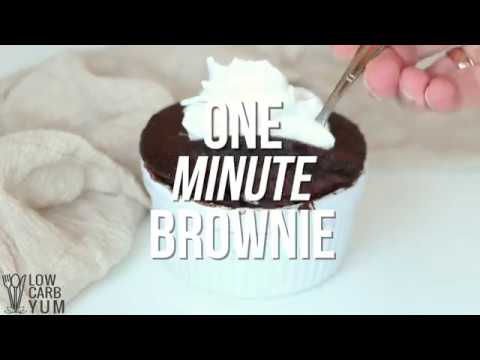How to make brownies in a mug without flour