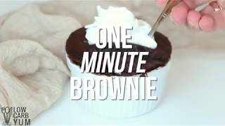 Low Carb Keto Mug Cake Brownie