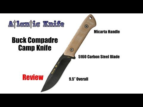 Buck Compadre Fixed Blade Camp Knife Review | Atlantic Knife Reviews 2019