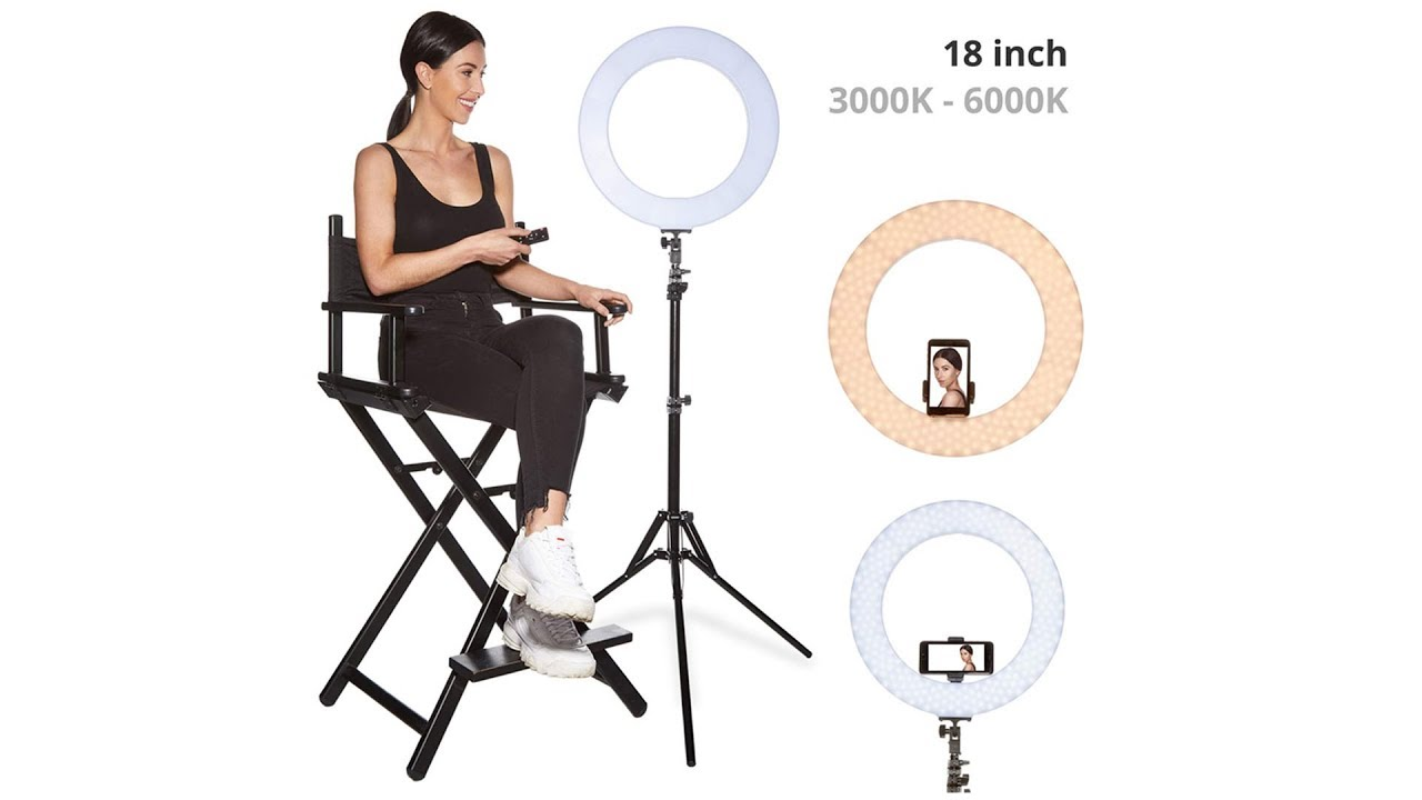 Practical LED Photography Ring Light Dimmable Lighting Photo Video Makeup Stand