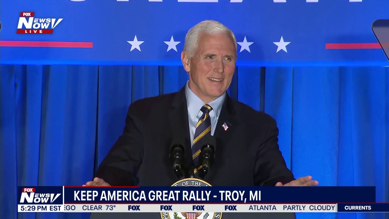 """He's the real deal"" - VP Pence holds Keep America Great rally in Troy, MI - FOX 10 P"