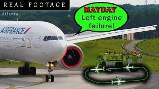 [REAL ATC] Air France B77W has ENGINE FAILURE after takeoff at Atlanta!