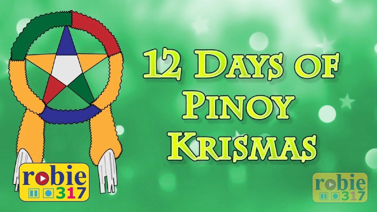 Merry Christmas In Filipino.12 Days Of Pinoy Krismas Animated Filipino Tagalog Christmas Song Awiting Pambata