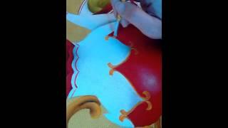 Pintura em tecido arabescos